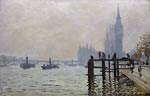 The Thames below Westminster Claude Monet