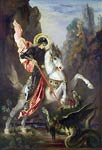Saint George and the Dragon Gustave Moreau