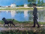 Richard Gallo and his Dog at Petit Gennevilliers Gustave Cailleb