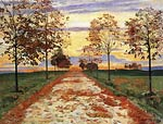 Autumn evening Ferdinand Hodler