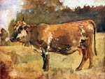 Cow on a pasture Ferdinand Hodler
