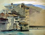 Old Houses on the Rhone Island, Geneva John Ruskin