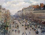 The Boulevard Montmartre in Paris Camille Pissarro