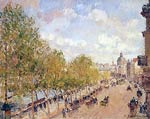 Quay of Malaquais in the Sunny Afternoon Camille Pissarro
