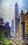 Lower Broadway in Wartime Colin Campbell Cooper