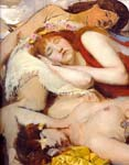 Exhausted maenides after the dance 1874, Alma Tadema Lawrence
