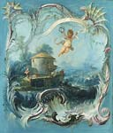 The enchanted home a pastoral landscape surmounted by cupid Fr