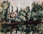 The Banks of the Marne (Villa on the Bank of a River) Paul Cezan