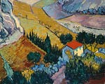 Landscape with House and Ploughman Vincent van Gogh