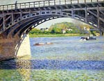 The Argenteuil Bridge and the Seine Gustave Caillebotte