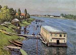 Boathouse in Argenteuil Gustave Caillebotte