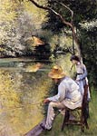 Fishing Gustave Caillebotte
