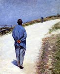 Man in a Smock Gustave Caillebotte
