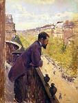 The Man on the Balcony Gustave Caillebotte