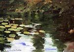 Yerres, on the Pond, Water Lilies Gustave Caillebotte