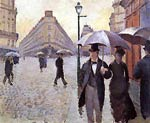 Paris Street- A Rainy Day (study) Gustave Caillebotte