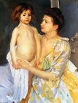 Jules Being Dried by His Mother Mary Cassatt