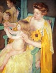 Mother Wearing A Sunflower On Her Dress Mary Cassatt