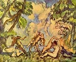 Bacchanal the dear fight Paul Cezanne