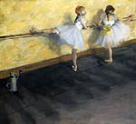 Dancers Practicing at the Bar Edgar Degas