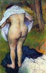 Girl drying herself - degas Edgar Degas