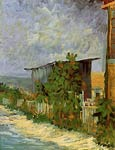 Montmartre Path with Sunflowers Van Gogh