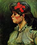 Portrait of a Woman with Red Ribbon Vincent Van Gogh