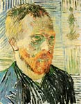 Self-Portrait with a Japanese Print Van Gogh