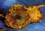 Two Cut Sunflowers Van Gogh
