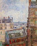 View of Paris from Vincent s Room in the Rue Lepic Van Gogh