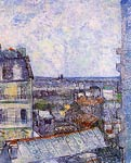 View of Paris from Vincent s Room in the Rue Lepic Vincent Van G