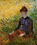 Woman Sitting in the Grass Van Gogh