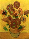 Still Life Vase with Fifteen Sunflowers 1889 Van Gogh