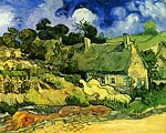 Thatched Cottages at Cordeville 1890 Van Gogh