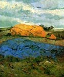 Haystacks under a Rainy Sky 1890 Vincent Van Gogh