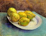 Still Life with Lemons on a Plate 1887 Van Gogh