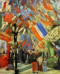The Fourteenth of July Celebration in Paris 1886 Van Gogh