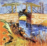 The Langlois Bridge at Arles 1888 Vincent Van Gogh