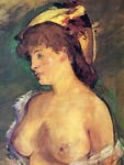 Blonde Woman with bare breasts Eduard Manet