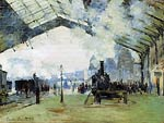 Arrival of the Normandy Train, Gare Saint-Lazare Monet