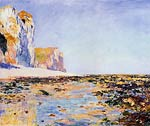 Beach and Cliffs at Pourville, Morning Effect Claude Monet