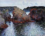 Belle-Ile, Rocks at Port-Goulphar Monet