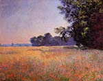 Oat and Poppy Field, Giverny Monet