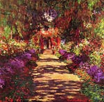 Path in Monets garden in Giverny Claude Monet