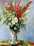 Bouquet of Gadiolas, Lilies and Daisies Claude Monet