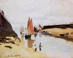 Entrance to the Port of Trouville Monet