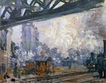 Exterior View of the Saint-Lazare Station Claude Monet