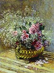 Flowers in a Pot (also known as Roses and Baby's Breath) Monet