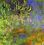 Iris in the lily pond Claude Monet