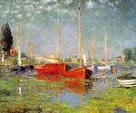 Red Boats at Argenteuil Monet
